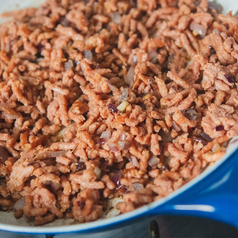 meatless-mince-cooking-in-pan