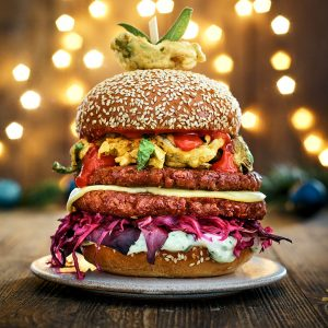 Ultimate Meatless Xmas Burger
