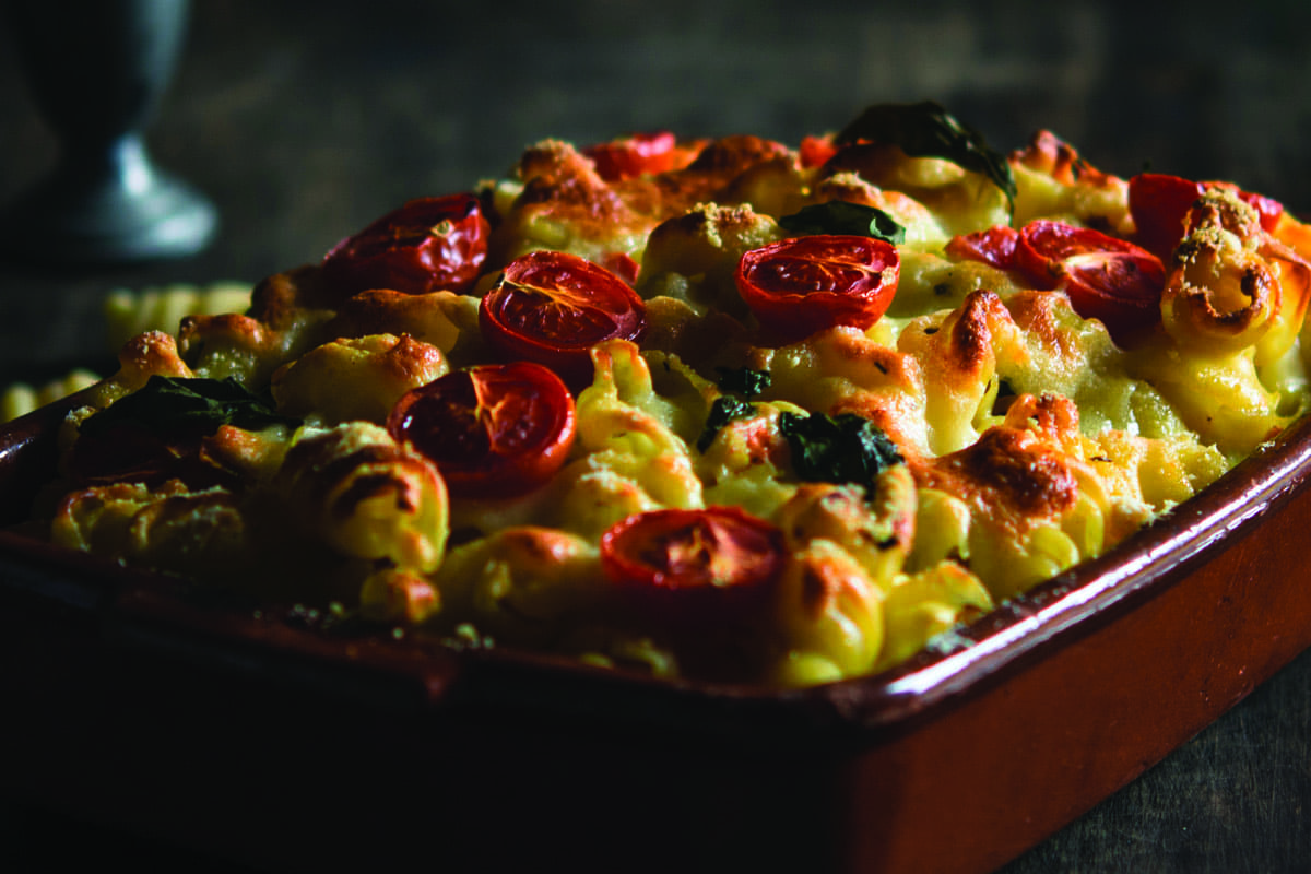 Meatless Cheesy-pastabake