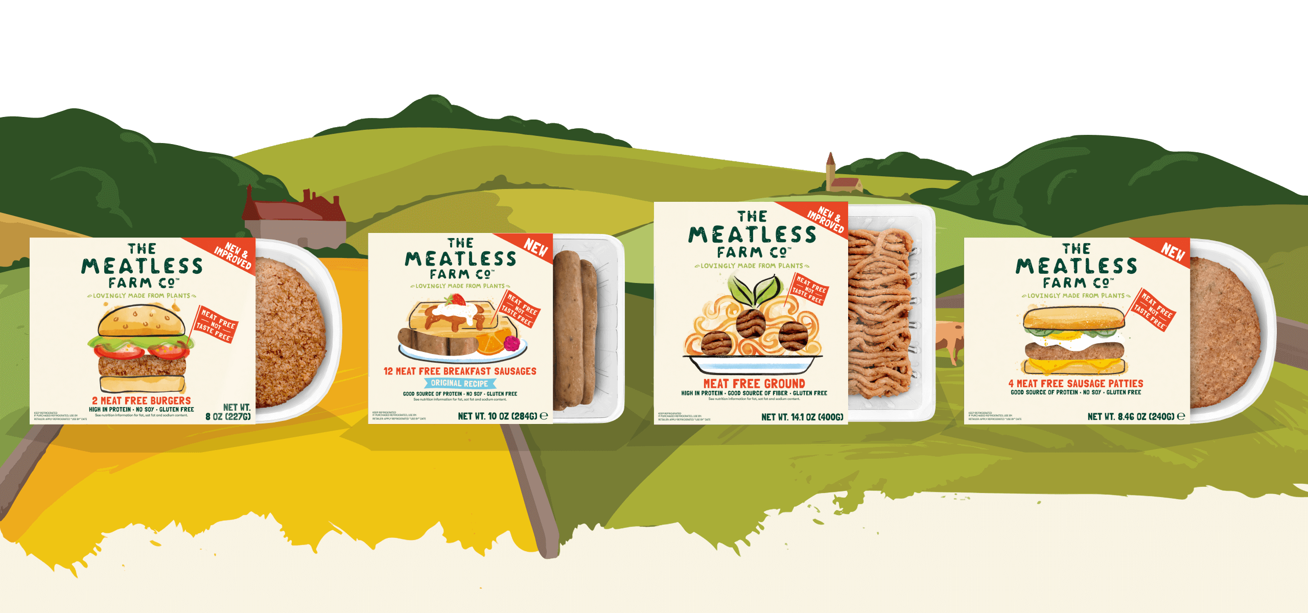 Meatless Farm's plant-based meat-free range of products