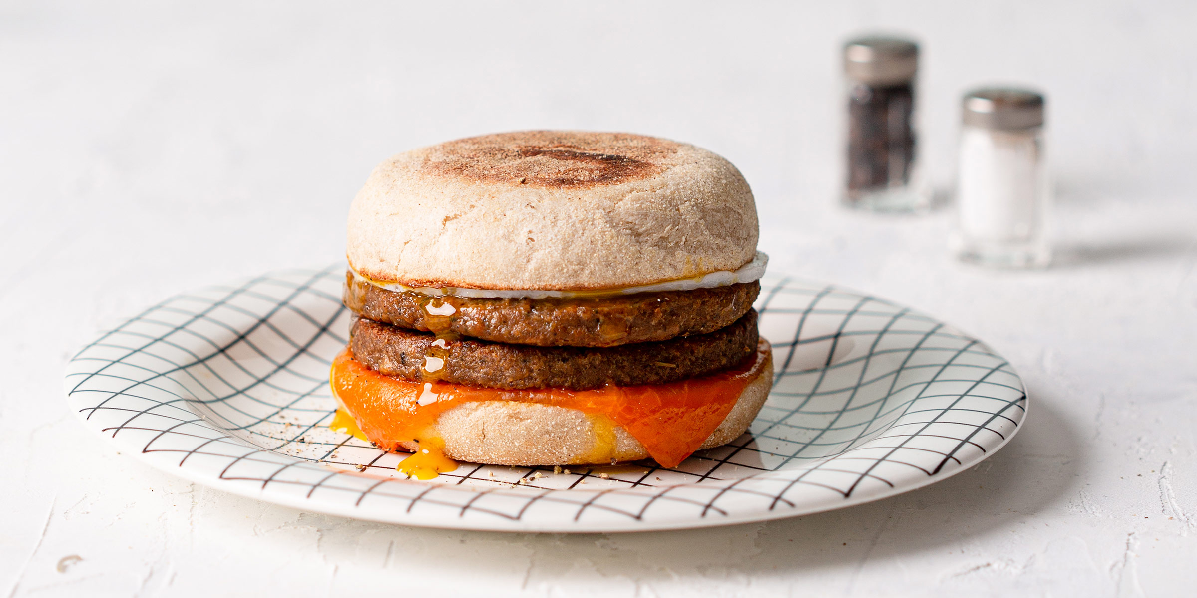 Meatless Farm sausage and egg McBluffin