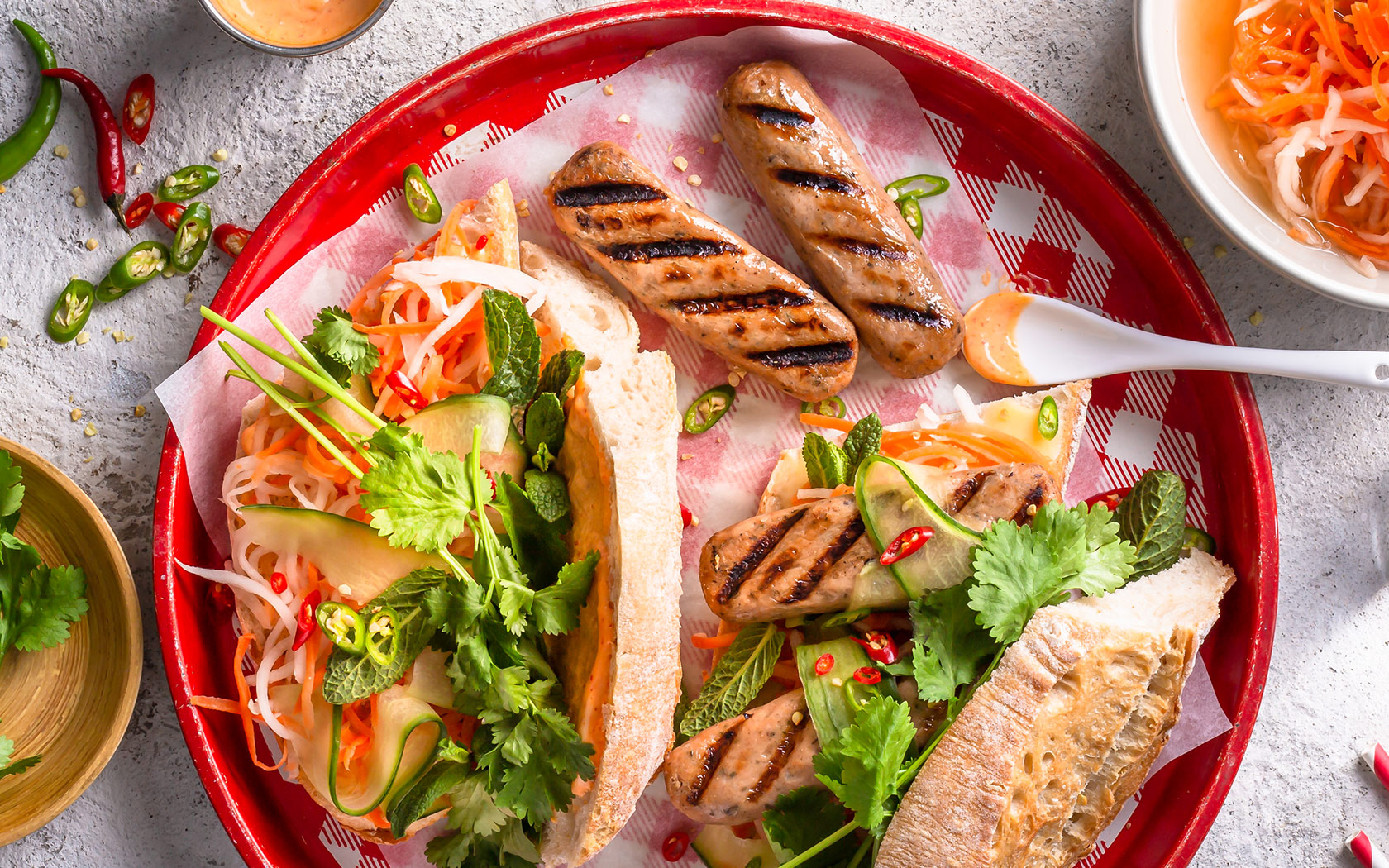 Meatless Banh Mi hot dogs