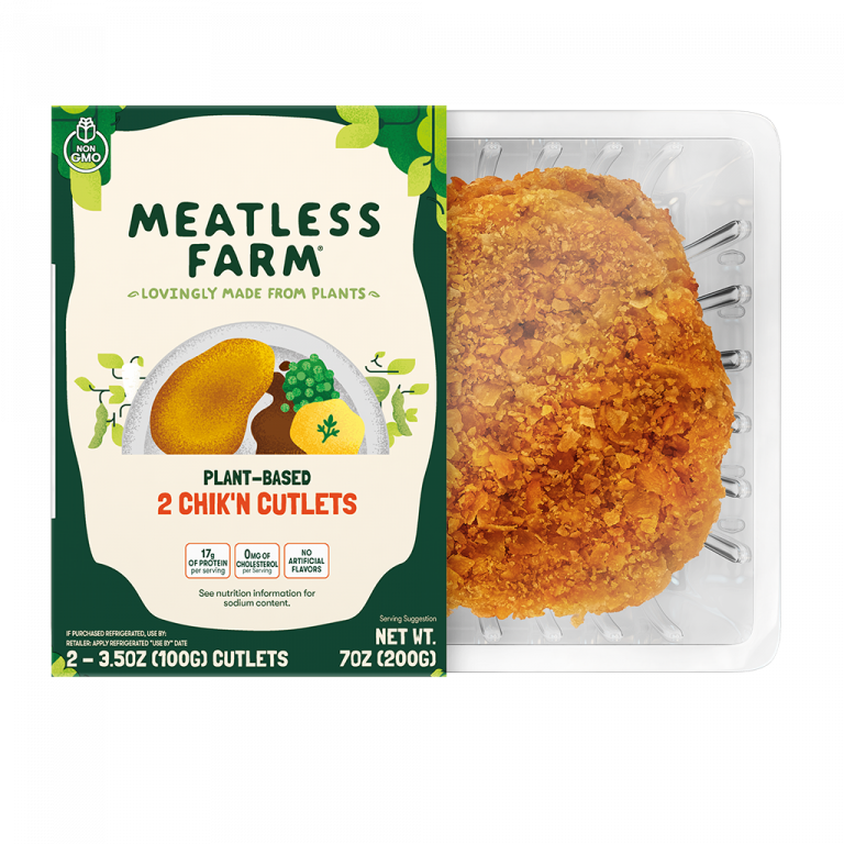 Plant-Based Chik'n Cutlets by Meatless Farm