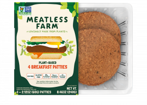 lant-Based sausage patties from Meatless Farm