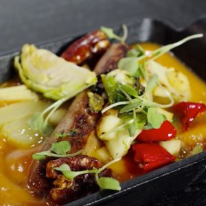 Meatless Sausage Apple Hash by Master Chef Daryl Shular