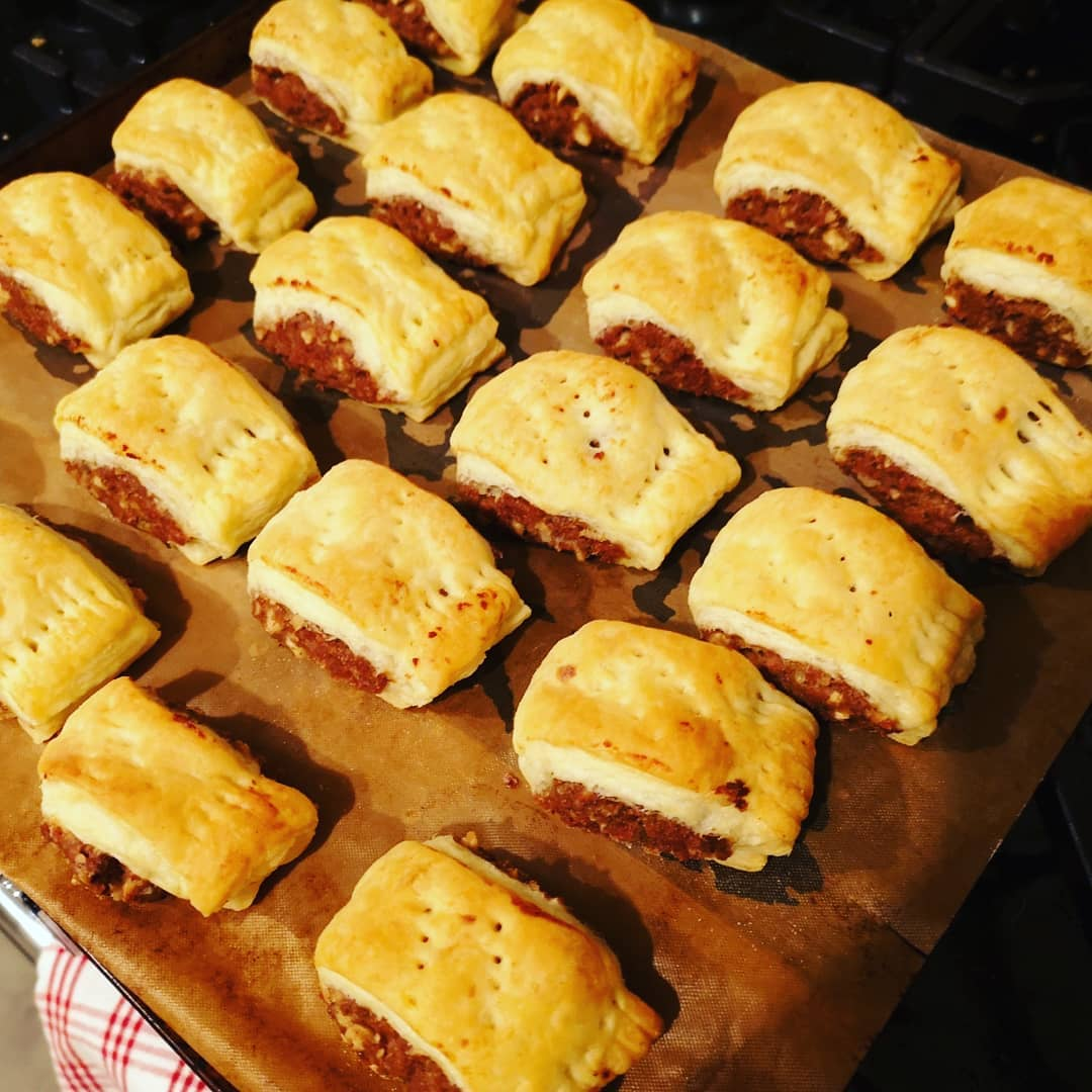 Meatless Farm sausage rolls