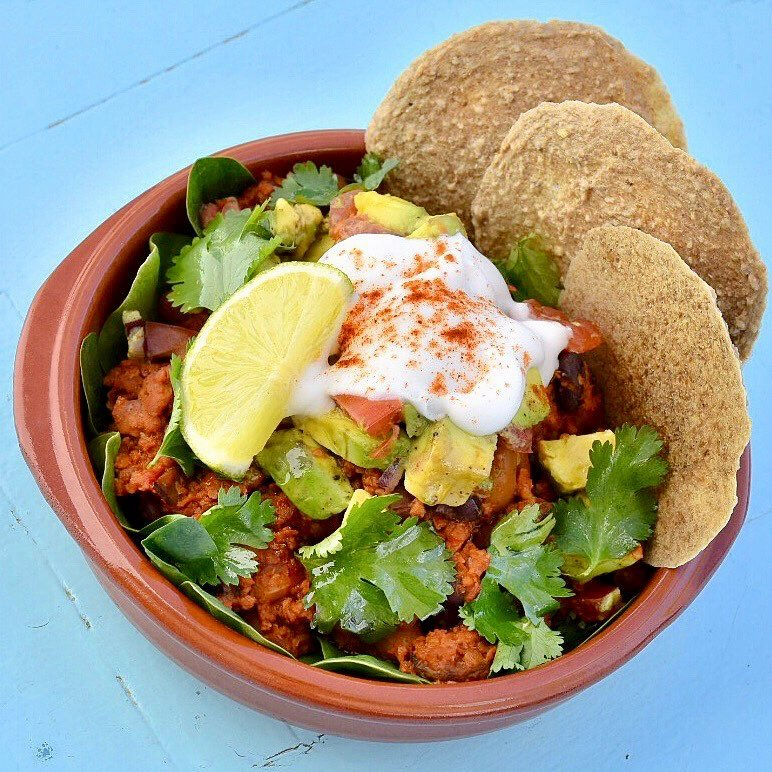 Meatless Farm mince with a Mexican twist