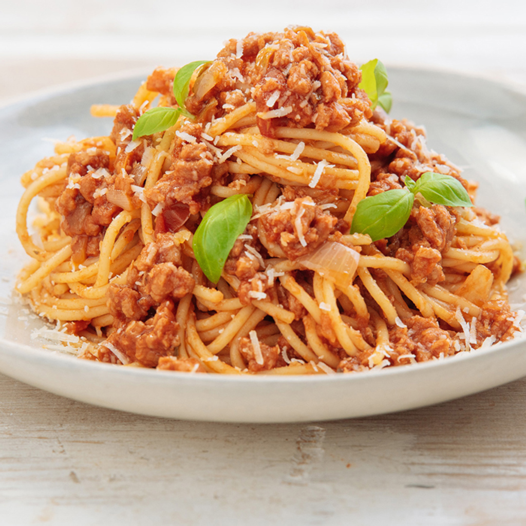 Meatless Farm spaghetti bolognese