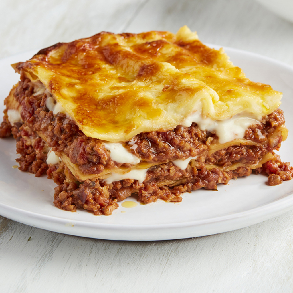 Meatless Farm vegan lasagne made with plant-based mince