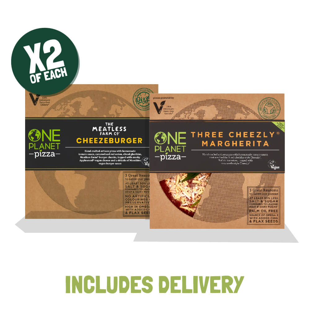 One Planet Pizzas in the Meatless Farm Shop