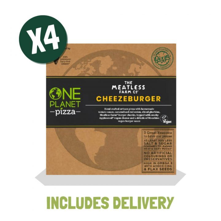One Planet Pizza Meatless Farm Cheezeburger Pizza