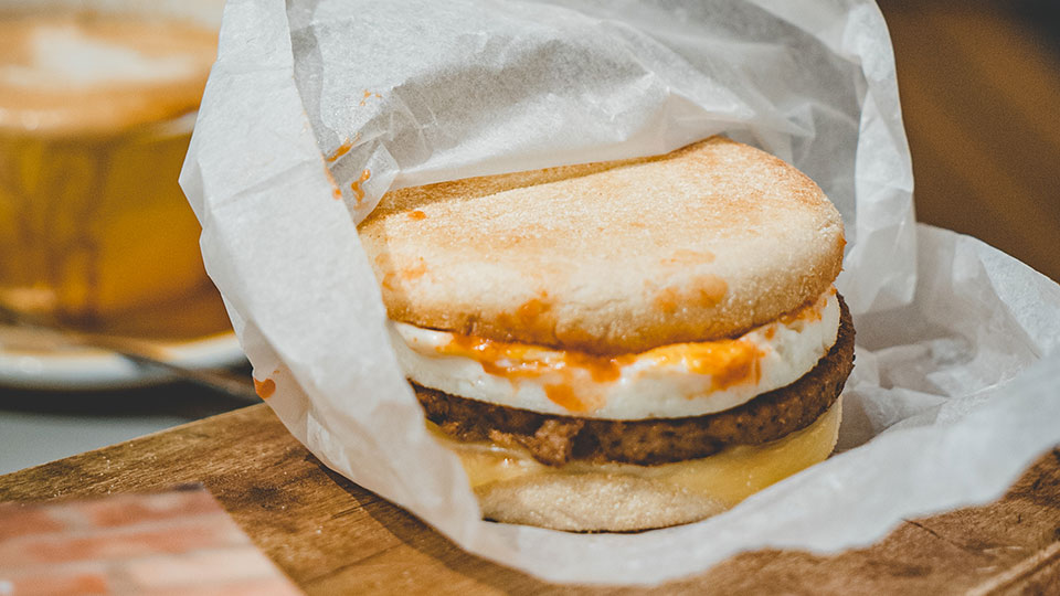 Meatless Farm McBluffin sausage and egg McMuffin