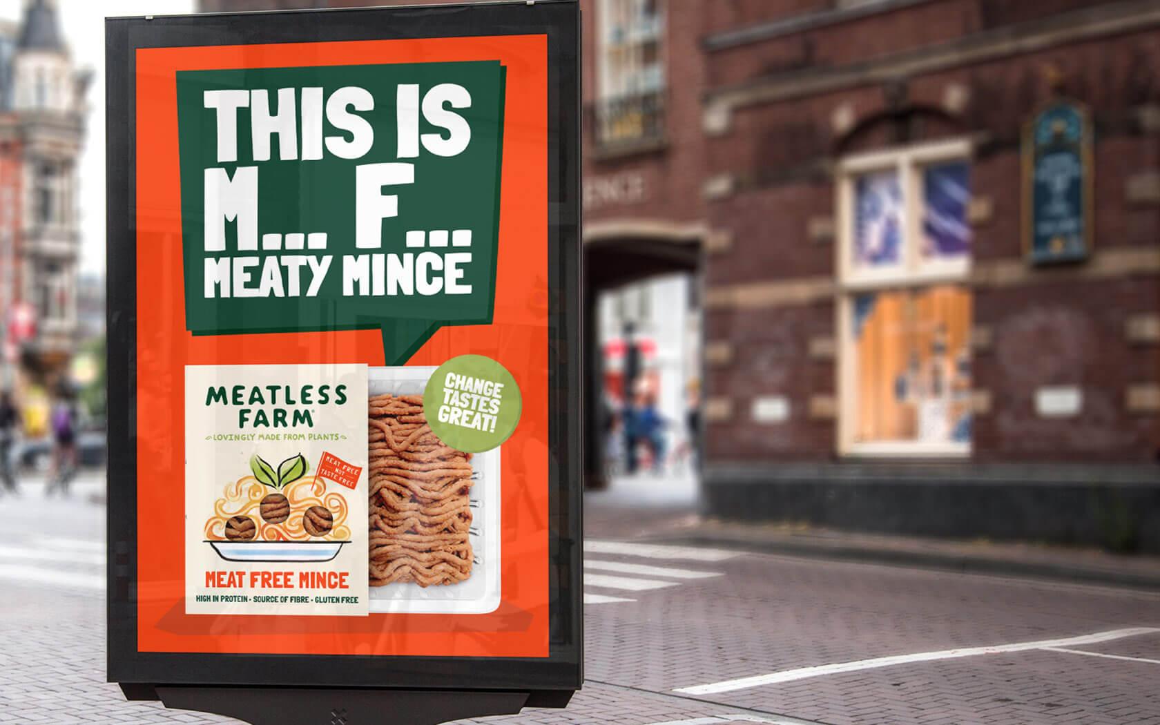 Meatless Farm M*** F*** campaign advert