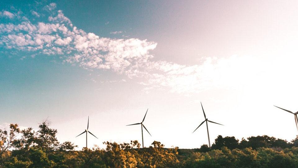 Wind farm pylons