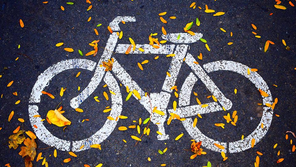 Bicycle path logo