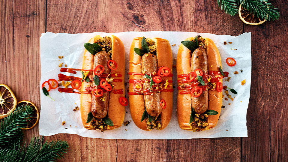 Meatless Farm Christmas spicy hot dog