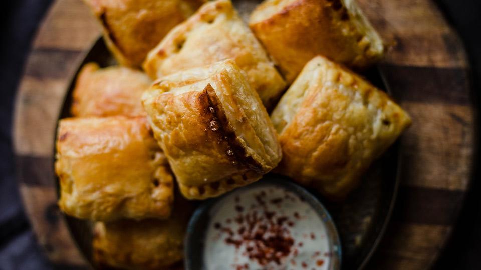 Pastry stuffed with peri peri keema Meatless Mince