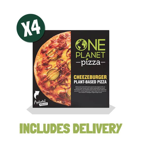 One Planet Pizza Cheezeburger Pizza - Meatless Farm Shop