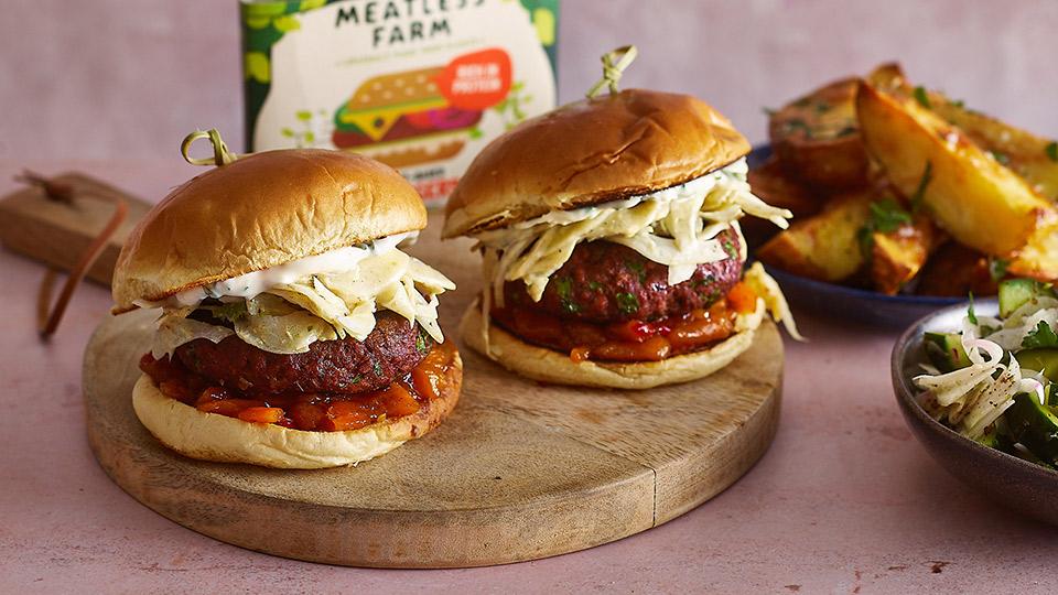 Meatless Farm Middle Eastern Burger