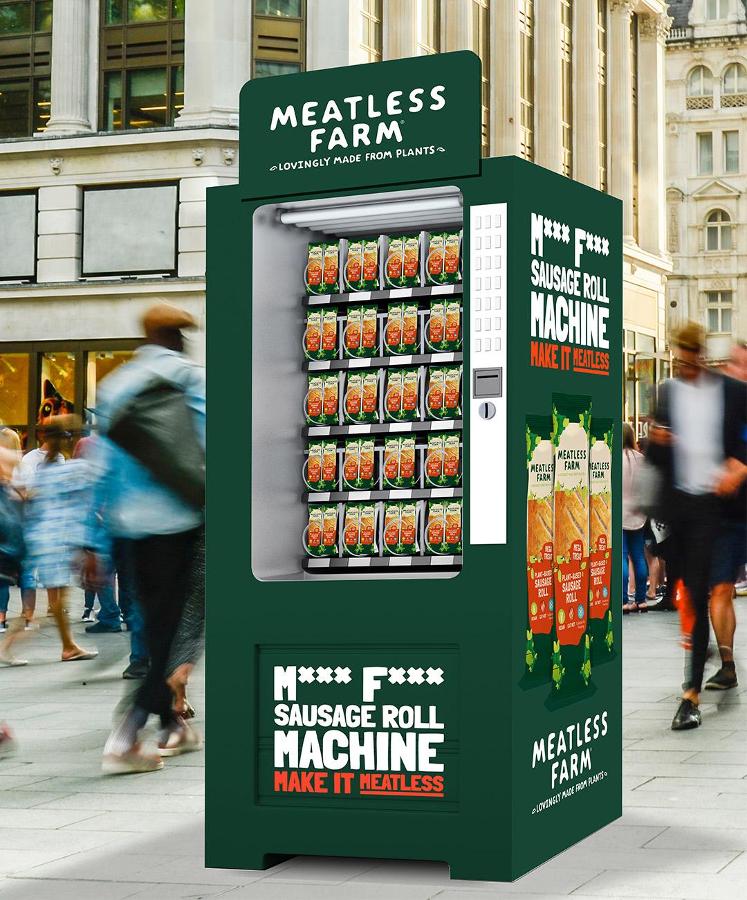 Meatless Farm Sausage Roll Vending Machine