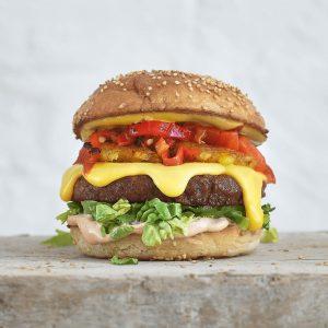 Meatless Fondue burger