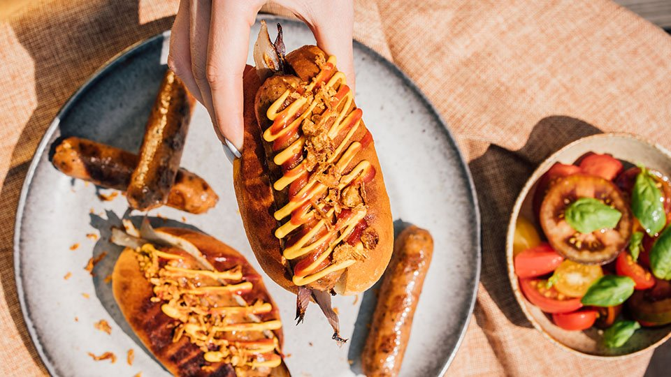 Meatless Farm BBQ recipes - plant-based hot dogs