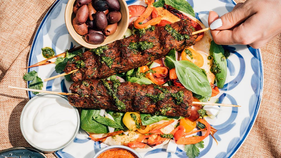Meatless Farm BBQ recipes - plant-based kebabs