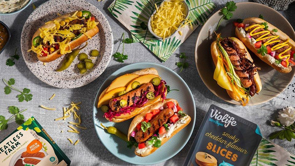 meatless farm hot dogs recipe violife