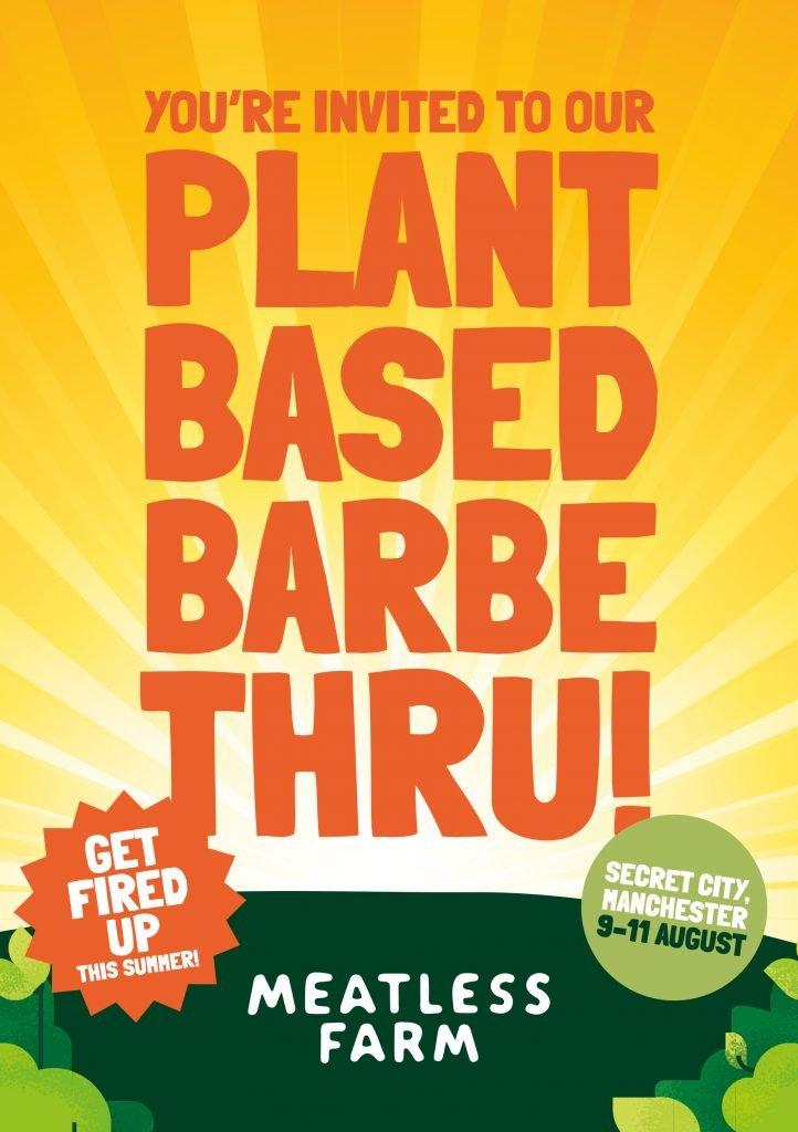 Meatless Farm plant-based Barbe-Thru invitation
