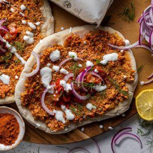 Vegan Lahmacun Turkish Pizza